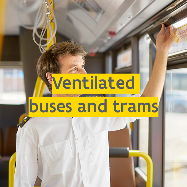 extra ventilated buses and trams