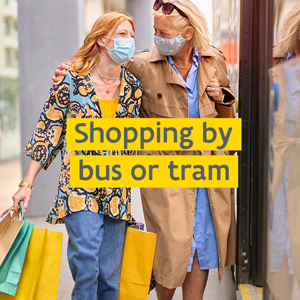 Shopping by bus or tram